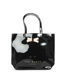 Ted Baker Womens Black Gabycon Bow Detail Large Icon Bag