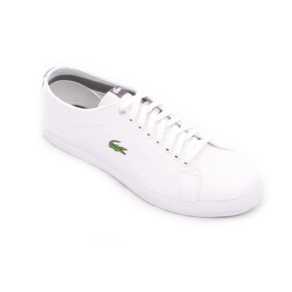 ffad7536fd315 Lacoste Mens White Lacoste White Grey Marcel PL SPM Lth Trainer