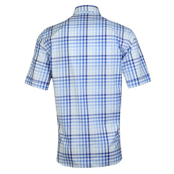 Paul & Shark Mens Blue Check Button Down Short Sleeve Shirt main image