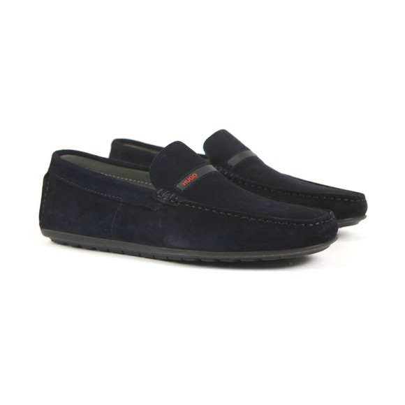 HUGO Mens Blue Dandy Suede Loafer main image
