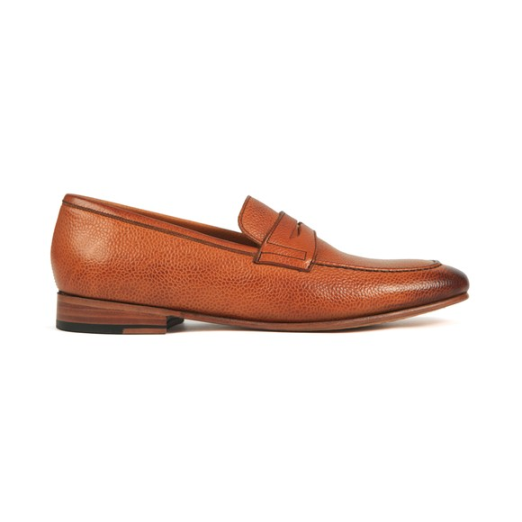 Barker Mens Brown Ledley Grain Leather Loafer