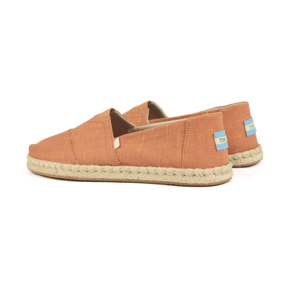 Toms Mens Off-White Toms Linen Classic Slip On main image
