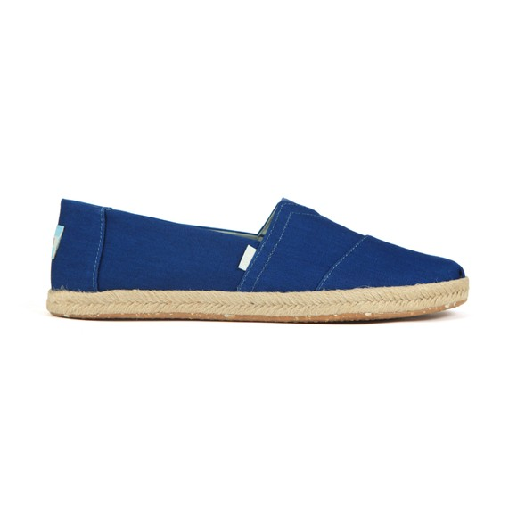 Toms Mens Blue Rope Canvas Slip On