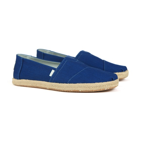 Toms Mens Blue Rope Canvas Slip On main image