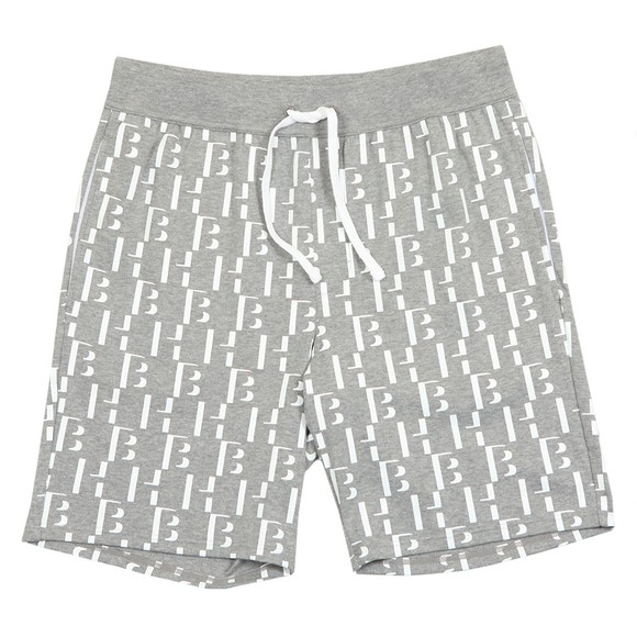 BOSS Bodywear Mens Grey Relax Logo Shorts