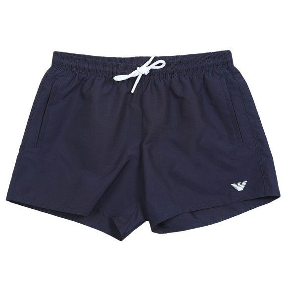 Emporio Armani Mens Blue Embroidered Eagle Swim Short