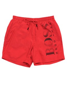 BOSS Bodywear Mens Pink Octopus Swim Short