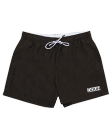HUGO Mens Black Haiti Swim Short