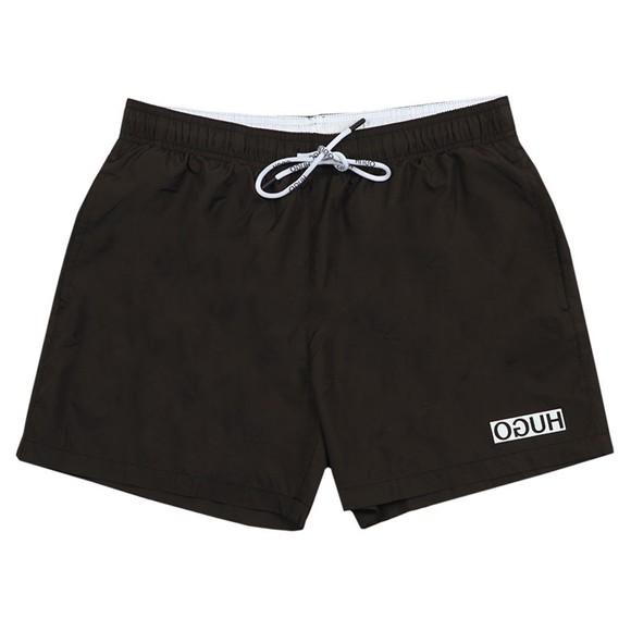 HUGO Mens Black Haiti Swim Short