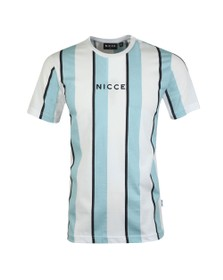 Nicce Mens Blue Stripe T-Shirt