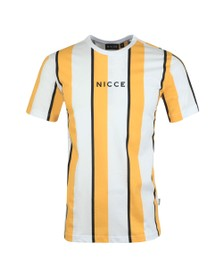 Nicce Mens Yellow Stripe T-Shirt
