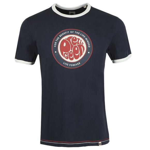 Pretty Green Mens Blue Likeminded Print T-Shirt main image