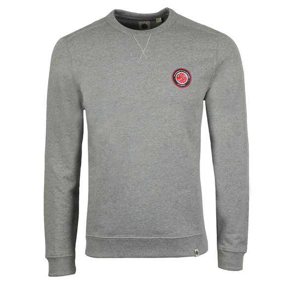 Pretty Green Mens Grey Likeminded Chest Badge Sweatshirt main image