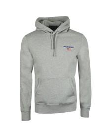 Polo Ralph Lauren Sport Mens Grey Logo Overhead Hoody