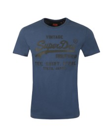 Superdry Mens Blue VL Shirt Shop Bonded T-Shirt