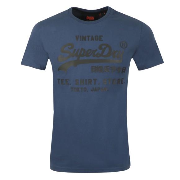 Superdry Mens Blue VL Shirt Shop Bonded T-Shirt main image