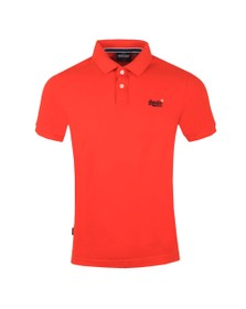 Superdry Mens Red Classic Pique Polo Shirt