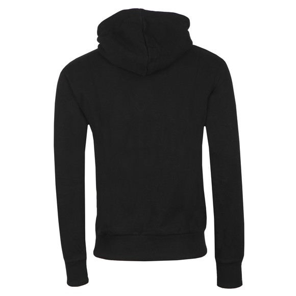 Superdry Mens Black Core Logo Sport Stripe Hoodie main image