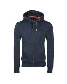 Superdry Mens Blue Orange Label Classic Ziphood