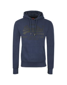 Superdry Mens Blue VL Shirt Shop Bonded Hoodie