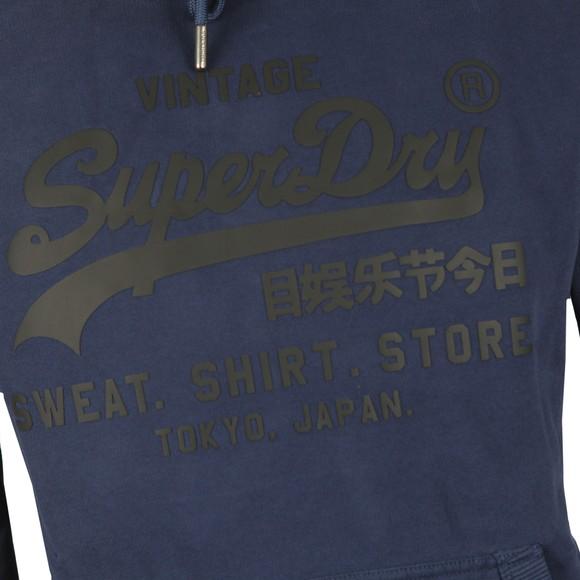 Superdry Mens Blue VL Shirt Shop Bonded Hoodie main image