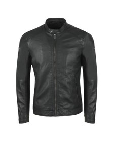 Superdry Mens Black Hero Light Leather Racer Jacket