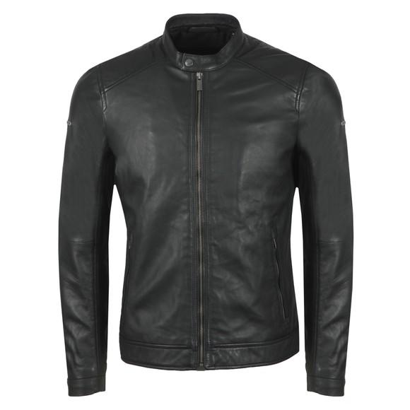 Superdry Mens Black Hero Light Leather Racer Jacket