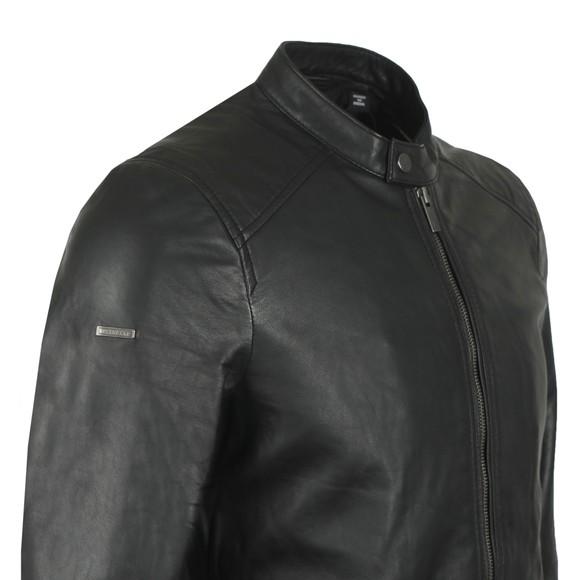 Superdry Mens Black Hero Light Leather Racer Jacket main image