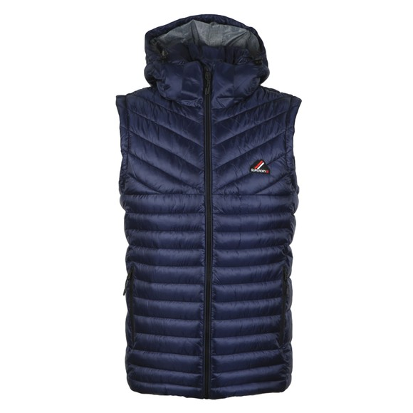 Superdry Mens Blue Desert Alchemy Fuji Gilet main image