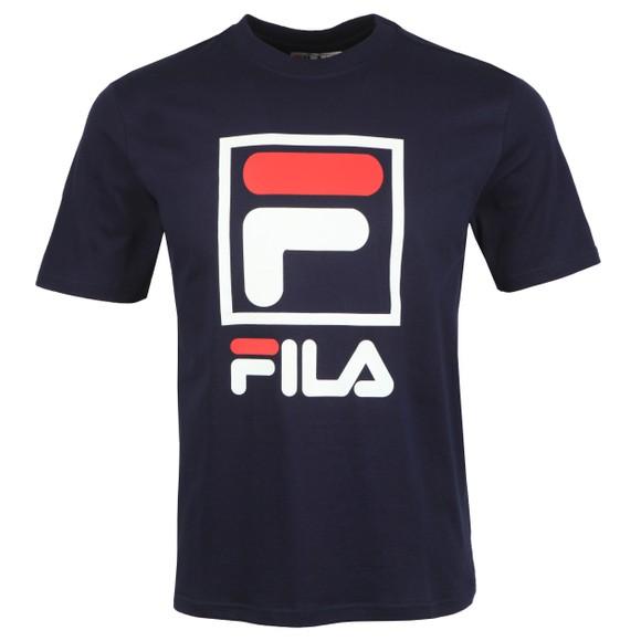 Fila Mens Blue Stacked Logo T-Shirt main image