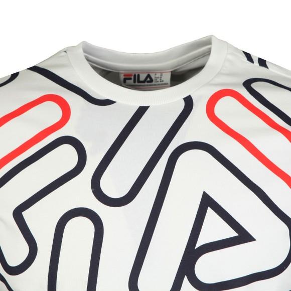 Fila Mens White Outline AOP T-Shirt