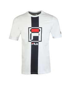 Fila Mens White Graphic T-Shirt