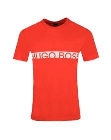 BOSS Bodywear Mens Orange Slim Fit Large Logo T Shirt