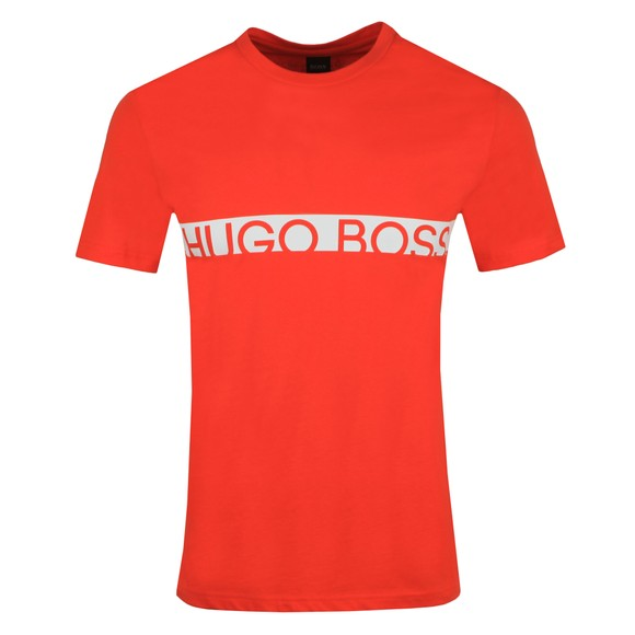 BOSS Bodywear Mens Orange Slim Fit Large Logo T Shirt