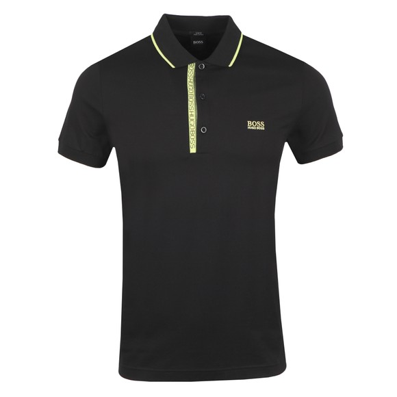BOSS Mens Black Athleisure Paule 4 Polo Shirt