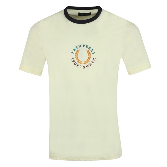 Fred Perry Mens Yellow Branded T-Shirt