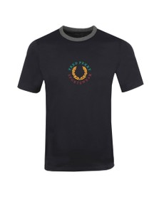 Fred Perry Mens Blue Branded T-Shirt