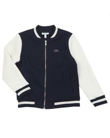 Lacoste Boys Blue SJ4822 Full Zip Sweatshirt