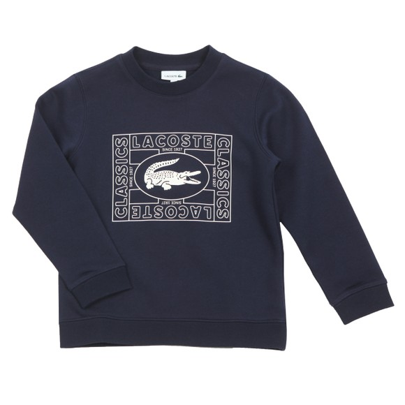 Lacoste Boys Blue Box Logo Sweatshirt