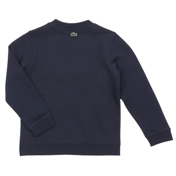 Lacoste Boys Blue Box Logo Sweatshirt main image