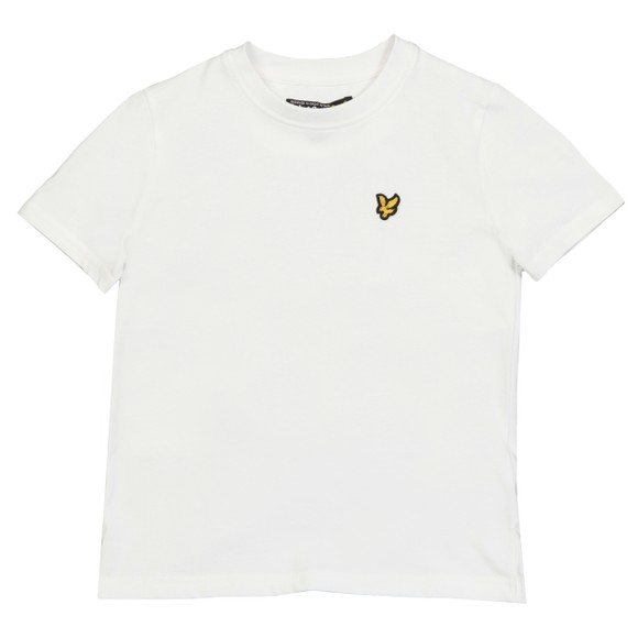 Lyle And Scott Junior Boys White Plain Crew T-Shirt