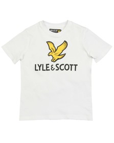 Lyle And Scott Junior Boys White SS Large Eagle Logo T-Shirt