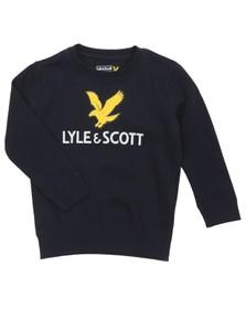 Lyle And Scott Junior Boys Blue Eagle Logo LB Crew Sweatshirt