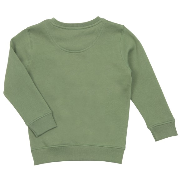 Lyle And Scott Junior Boys Green Panel BB Crew Sweatshirt