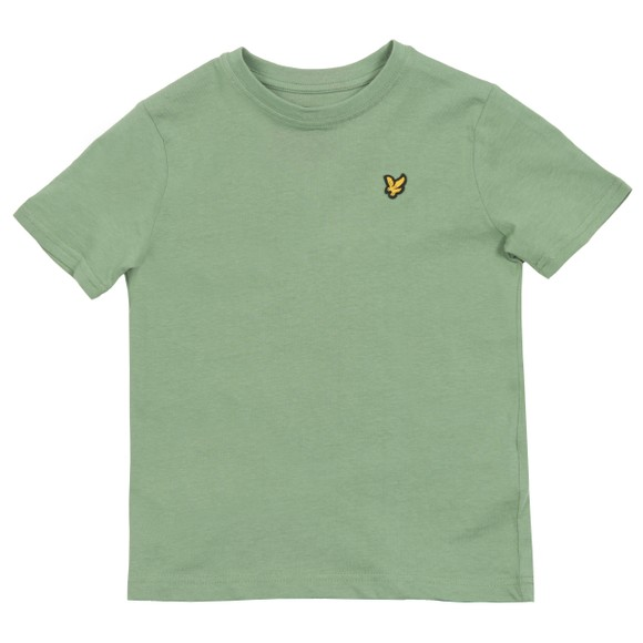 Lyle And Scott Junior Boys Green Plain Crew T-Shirt