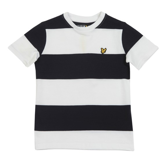 Lyle And Scott Junior Boys White Wide Stripe T-Shirt