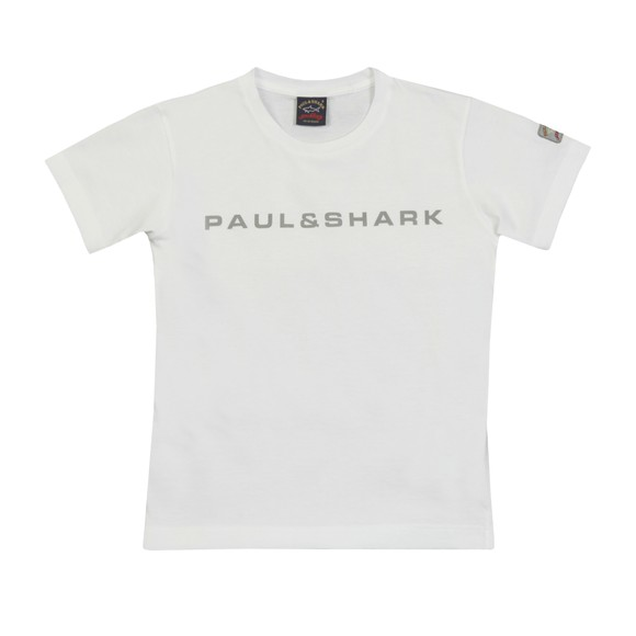 Paul & Shark Cadets Boys White Reflective Logo T-Shirt