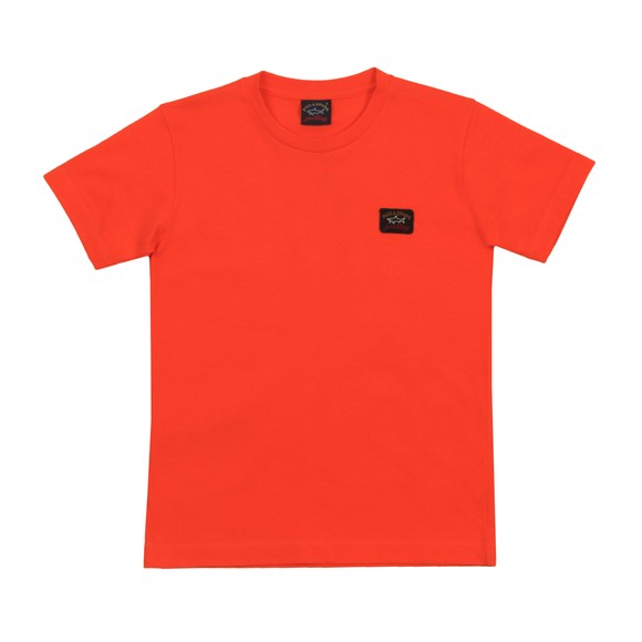 Paul & Shark Cadets Boys Orange Classic Small Logo T-Shirt main image