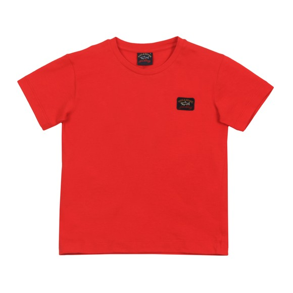 Paul & Shark Cadets Boys Red Classic Small Logo T-Shirt main image