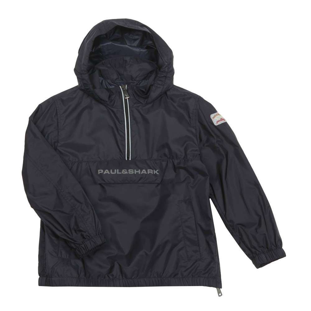 Reflective Logo Half Zip Front Pouch Jacket main image